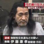 伊藤康孝容疑者の素性、余罪や前科を調査【寝ている女性をはさみで脅した強制性交未遂】