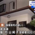 杉山純子容疑者顔画像や動機を調査【夫と義母の2人の介護疲れが原因か?】