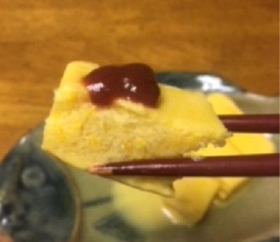 ガリガリ君たまご焼き味とケチャップ